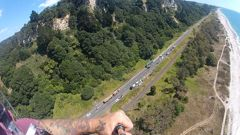 Paraglider pilot Dean Remnant took this photograph over the scene of the horrific Pikowai crash that killed three people. (Photo / Supplied)