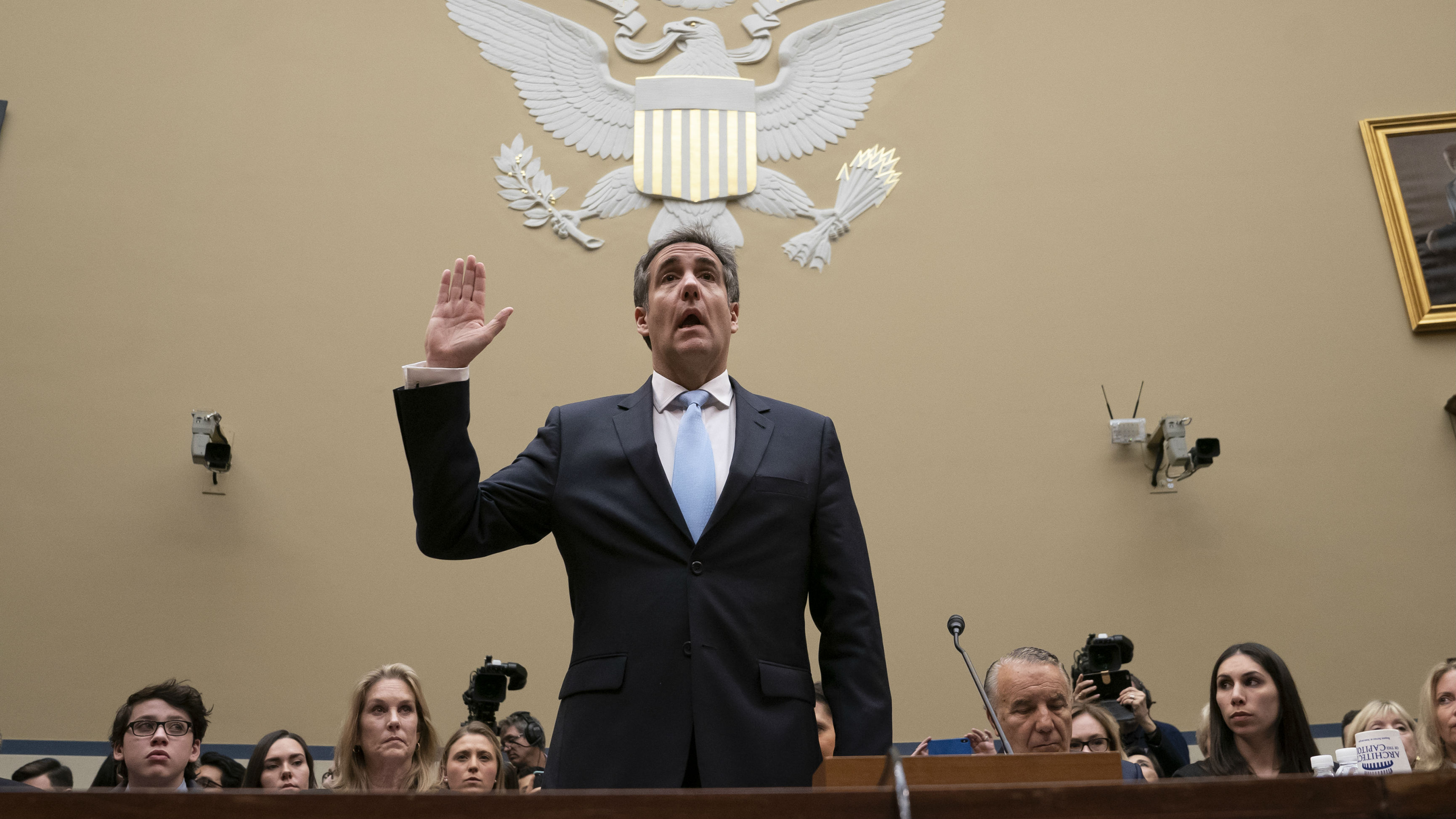 Michael Cohen testified to the US Congress for around seven hours. (Photo / AP)
