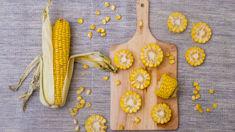 Mike van de Elzen: Roasted corn and spiced bird salad