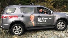 MP Duncan Webb's car found after being stolen