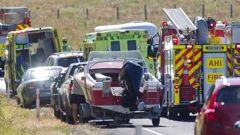 The scene near the crash site at Tikitere. (Photo / Ben Fraser)