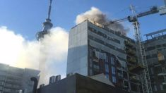 'Flames everywhere': Huge blaze at $75m building site