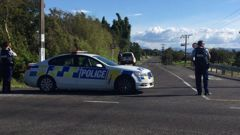 Armed police are in the Bay of Plenty settlement of Thornton. (Photo / Bay of Plenty Times)