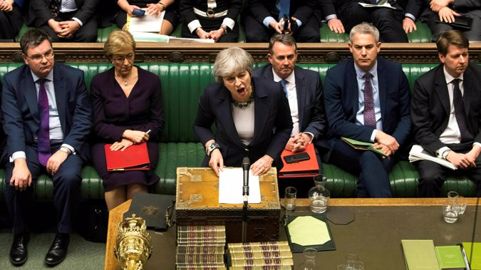 Britain's Prime Minister Theresa May speaks to lawmakers in the House of Commons. Photo / AP