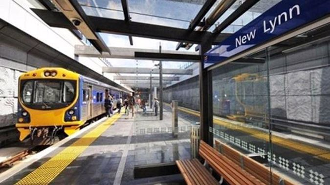 There is an incident at New Lynn railway station.