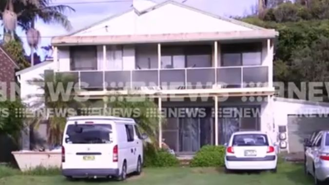 The home was raided earlier today. (Photo / 9News)