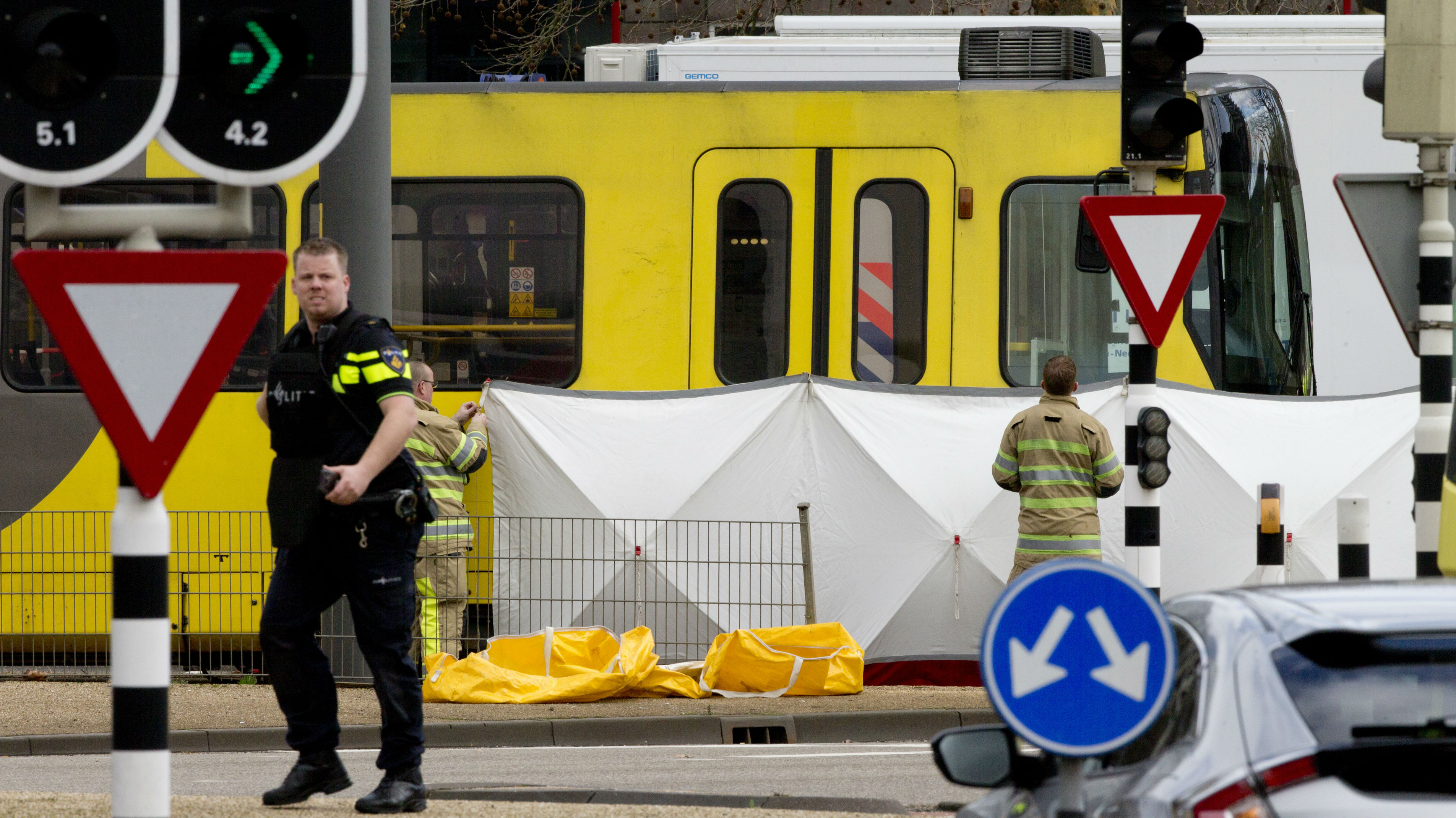 Three people were killed in the attack in  Utrecht. (Photo / AP)