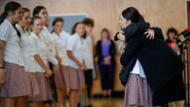 PM visits Christchurch schools, thanks first responders