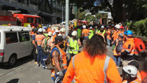 Person burnt in fire at SkyCity construction site