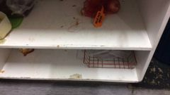 The kitchen area at the Criterion Art Deco Backpackers in Napier can get pretty grubby. Photo / Supplied