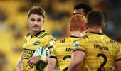 Beauden Barrett has spoken out about vulnerability in rugby. (Photo / Getty)