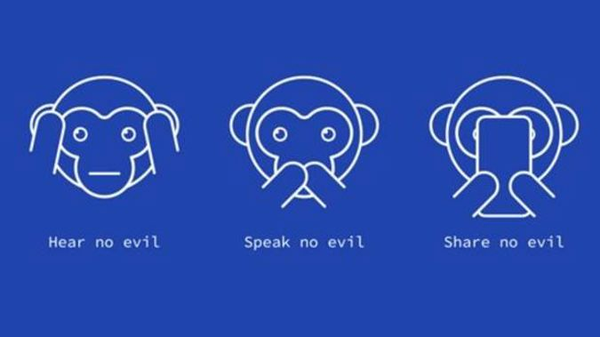 The #ShareNoEvil cvampaign will block terror-related content. (Photo / Supplied)