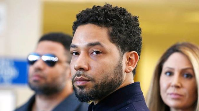 Actor Jussie Smollett after his court appearance at Leighton Courthouse on March 26, 2019 in Chicago. (Photo / Getty)