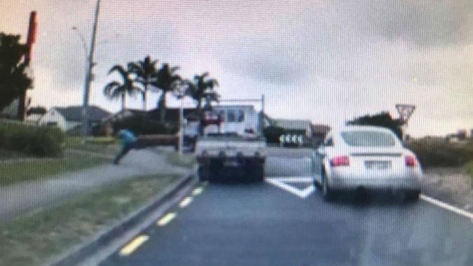 Dashcam footage shows truckie accelerating towards pedestrian