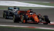 Spark Sport fronts after wheels fall off during Bahrain F1