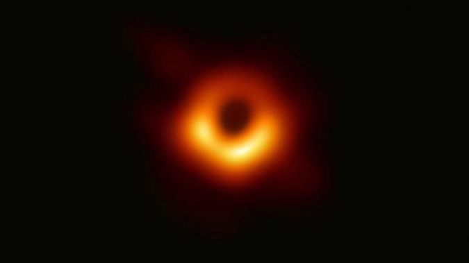 Image released by Event Horizon Telescope of a black hole. Scientists revealed the image after assembling data gathered by a network of radio telescopes around the world. Image / via AP