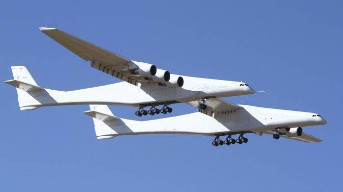 The Stratolaunch has six engines and a twin fuselage. (Photo / AP)