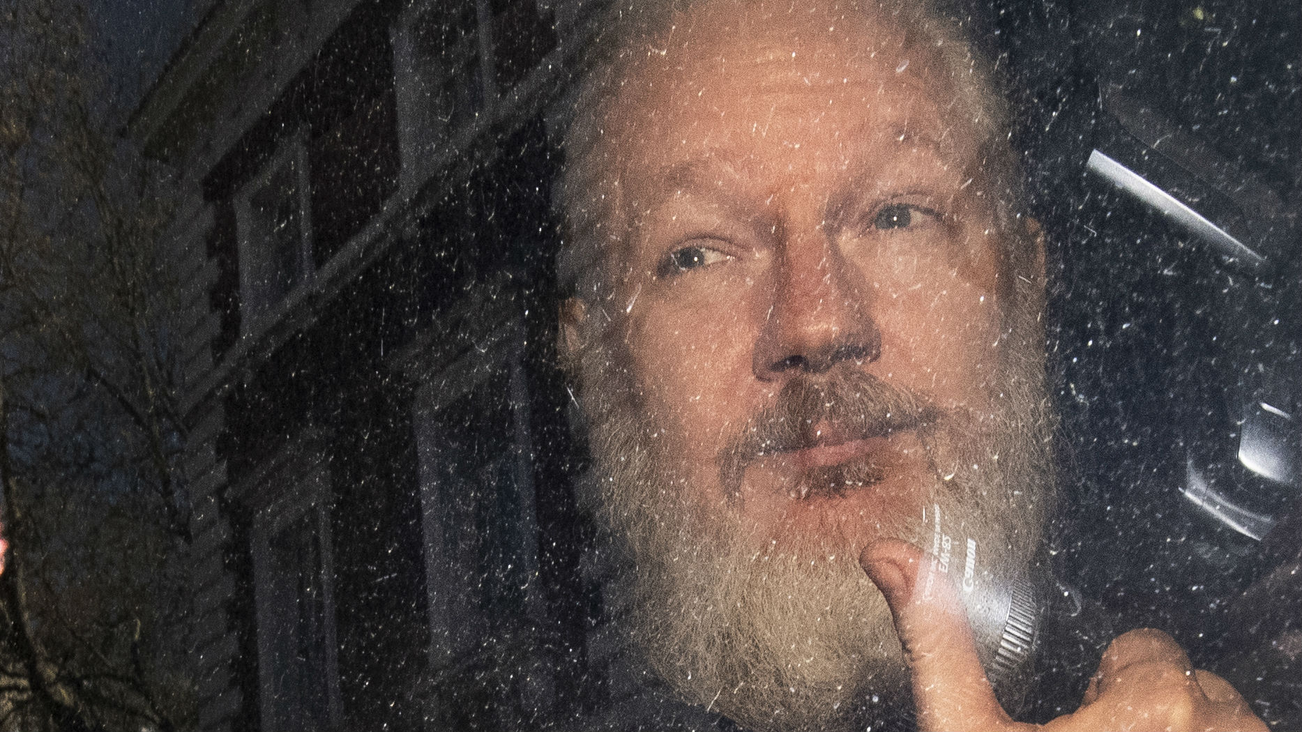 Julian Assange was arrested in London on Thursday morning local time. (Photo / AP)