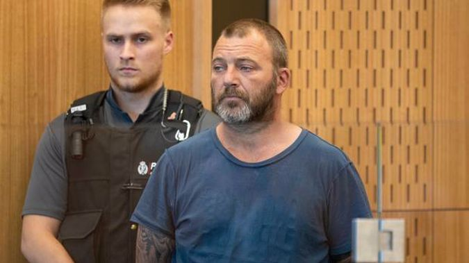 Philip Arps as he appeared at his first appearance in court in connection with distributing mosque shooting footage. (Photo / NZH - File)