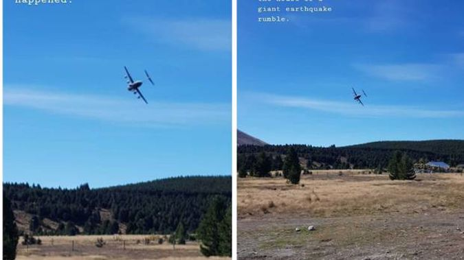 The air force plane stunned locals near Twizel. (Photo / Instagram)