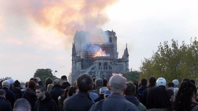 The fire at the iconic Cathedral has garnered attention around the world. (Photo / AP)