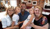 Nataliya Shchetkova, Alex Derecha, daughter Daria and twins Alexander and Victoriya. Photo / NZ Herald