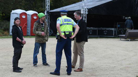Police close down Dunedin cannabis festival