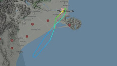 Air New Zealand flight turns back after plane 'hit something'
