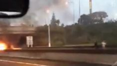 Car fire causes delays on Southern Motorway