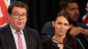 Grant Robertson and Jacinda Ardern. Photo / NZ Herald