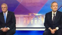 Bill Shorten was declared the winner of the debate. (Photo / Channel 7)