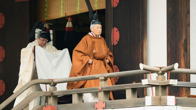 Akihito is the first emperor to abdicate in two centuries. (Photo / AP)