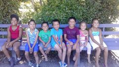 The children of David Poutawa and Margaret Luke, five of who died in a crash on State Highway 1, Atiamuri. Photo / Facebook