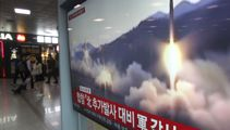 North Korea fired unidentified missiles into ocean