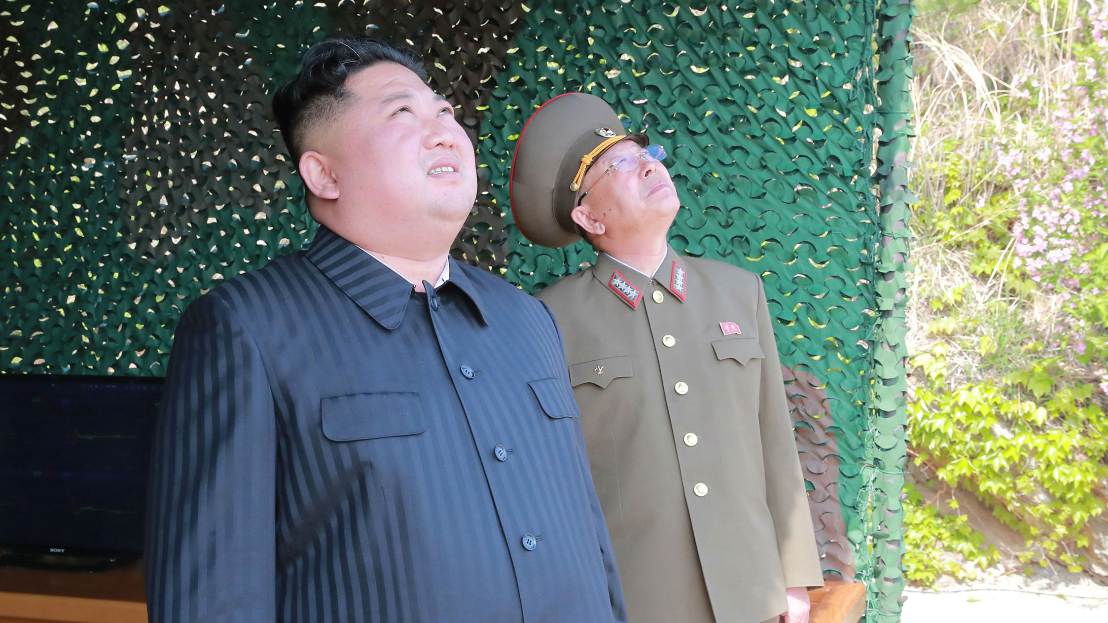 Kim Jong Un witnessed the missile launch, North Korean state media said yesterday. (Photo / via AP)
