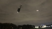 Two helicopters land on Auckland Domain