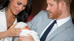 Harry and Meghan had surprised some with the name of their son. (Photo / AP)