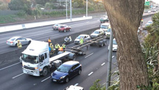 Motorcyclist seriously injured in crash on Auckland's Southern Motorway
