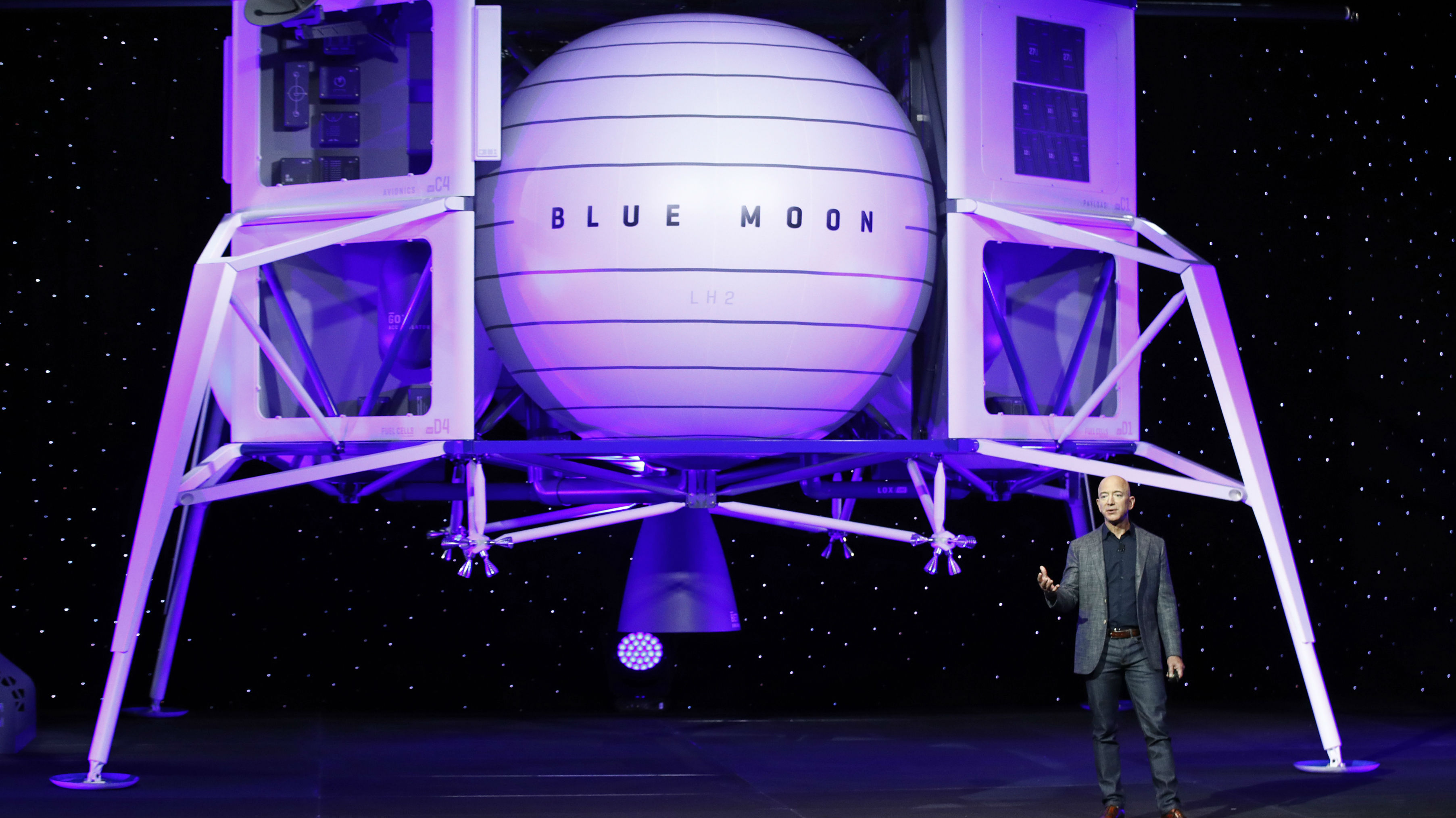 Bezos wants the spaceship to be there by 2024. (Photo / AP)