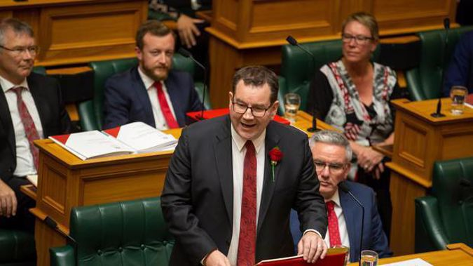 Finance Minister Grant Robertson in the House. Photo / Mark Mitchell