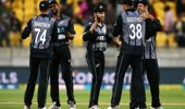 The Black Caps during a T20 match against India. (Photo / Getty)