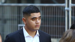 Joseph Larson leaves the High Court at Auckland after pleading not guilty to manslaughter. (Photo / Sam Hurley)