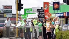 Teachers plan another strike on May 29 after striking last August and again, above, in November. (Photo / George Novak)