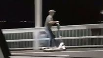 Limey! Electric scooter rider filmed going over Auckland Harbour Bridge