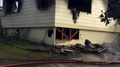 The burnt-out shell of the Milovale's home in Papatoetoe, that caught fire on Sunday. Photo / Supplied