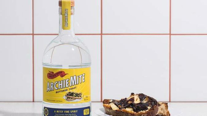 The spirit apparently tastes exactly like Vegemite and butter on toast. (Photo / Archie Rose)
