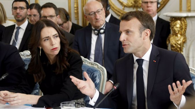 The deal, spearheaded by Jacinda Ardern and Emmanuel Macron, was signed this morning. (Photo / AP)