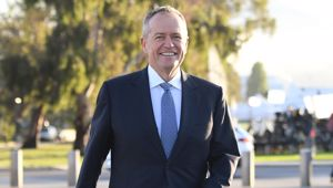 Bill Shorten has rewritten the record book of promises. He was handing out cash promises two weeks ago at $260 million a day.  Photo / Getty Images.