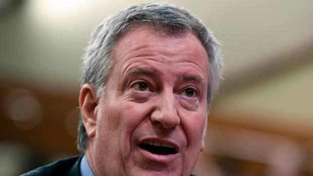 New York City Mayor Bill de Blasio is running for US president. Photo / AP