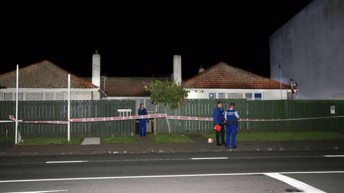 Police at the scene of the crime. (Photo / NZ Herald)